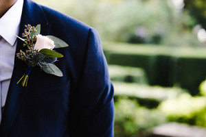 Man wearing wedding suit