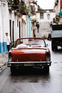 old school car driving away