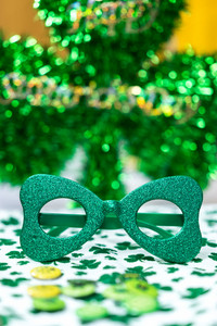 St. Patrick's Day party glasses