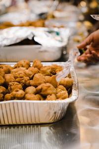 tray with nigerian food