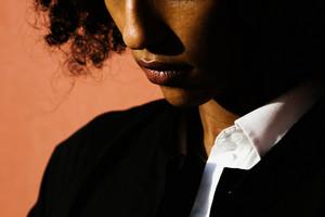 upclose image of a woman lips