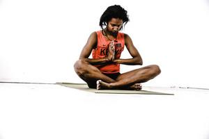 women meditate on yoga mat