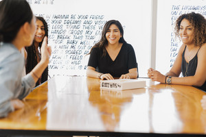 Women meet to have a discussion about the Changing Faces of Diversity