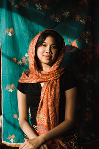 young inodonesian smiling  with headscarf