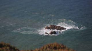 Close up of rocks at at Cabo da Roca Portugal