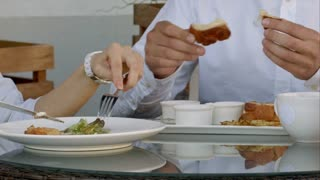 Two people having their meal together