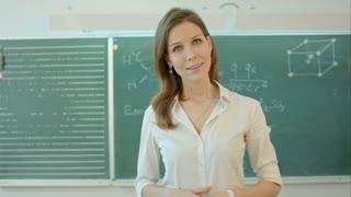 University teacher talking into the camera