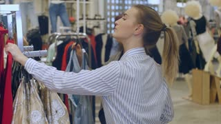 Consultant and buyer in the women clothing store