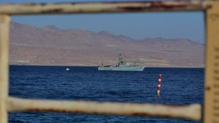 EILAT, ISRAEL - 28 MAY 2017: Military boat patrolling the waters near the border