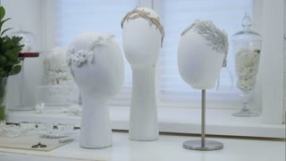Stylish white hair accessory