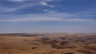 View of stone desert with clear blue sky