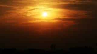 Sunset timelapse in Kolkata city