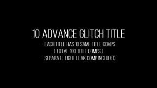 Advance Glitch Title