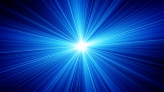 Blue light rays sparkling