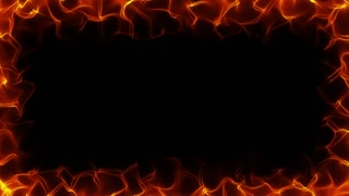 Fiery frame black background