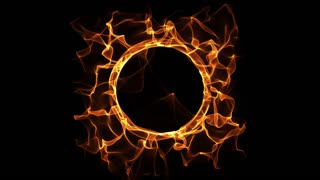 Fire Ring burning flames circle logo