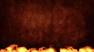 Fire title plate background
