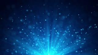 Light and particles motion background