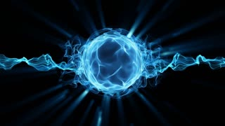 Plasma magic ball looped animation