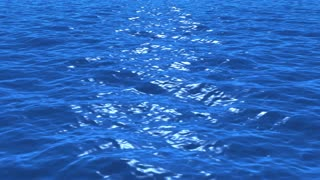 Water surface loop realistic ocean water