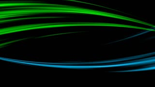 Wavy lines design green blue