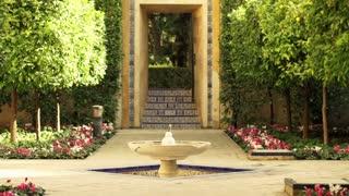 Ancient fountain from  alcazar (garden) in Sevilla