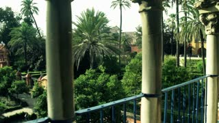 Splendid view from terrace alcazar in Sevilla