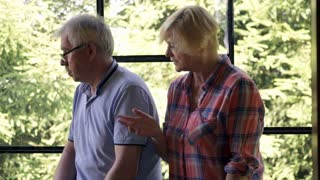 Senior couple having relationship difficulties at home