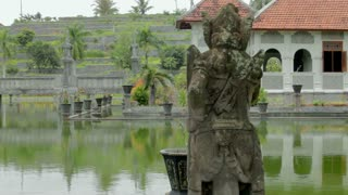 Architectural wonders at the Karangasem water temple in Bali, Indonesia