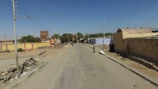 ASWAN, EGYPT - FEBRUARY 7, 2016: Street view of village near Aswan