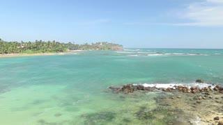 Beautiful sea view from the beach in Sri Lanka