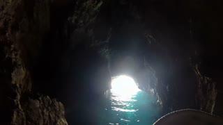 Boat tour in a Blue cave on Bisevo Island in Croatia
