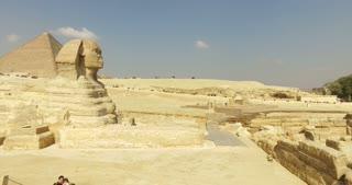 CAIRO, EGYPT - FEBRUARY 04, 2016: Tourists visiting Giza pyramids complex