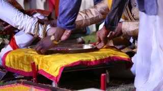 Ceremony part of traditional hindu wedding in Jodhpur.