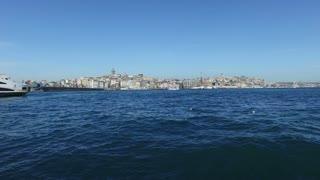 Cityscape of Istanbul and Bosphorus sea, Turkey