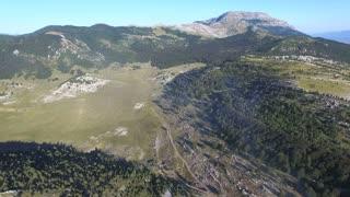 Dinara high mountain aerial view
