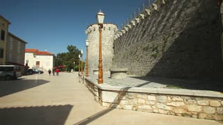 Fortress architecture of the old town of Krk, Croatia