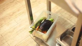 Fresh vegetables in a restaurant