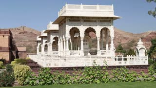 Garden houses by Jaswant Thada temple in Jodhpur.