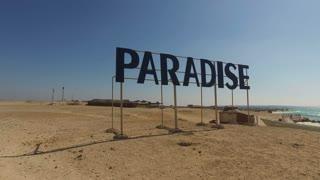 HURGHADA, EGYPT - FEBRUARY 13, 2016: Panorama of Paradise islands near Hurghada