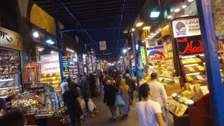 ISTANBUL, TURKEY - FEBRUARY 15, 2016: The Spice Bazaar Misir Carsisi or Egyptian Bazaar in Istanbul