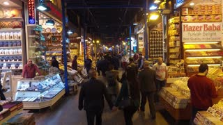 ISTANBUL, TURKEY - FEBRUARY 15, 2016: The Spice Bazaar Misir Carsisi or Egyptian Bazaar in Istanbul