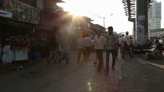 MUMBAI, INDIA - 12 JANUARY 2015: People walking down the street in Mumbai.