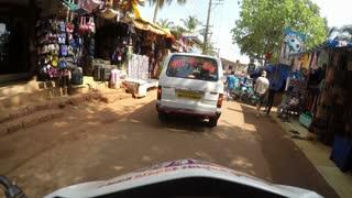 MUMBAI, INDIA - 12 JANUARY 2015: Timelapse of vehicle driving down the road in Mumbai.