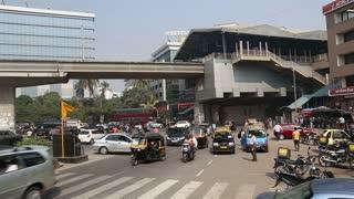 MUMBAI, INDIA - 16 JANUARY 2015: Traffic at a busy street in Mumbai.