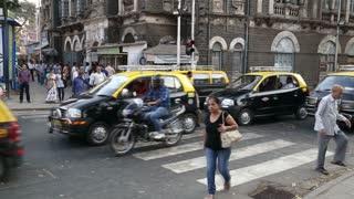 MUMBAI, INDIA - 17 JANUARY 2015: Timelapse of traffic at busy street in Mumbai.