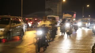 MUMBAI, INDIA - 8 JANUARY 2015: Timelapse of traffic at the streets of Mumbai.