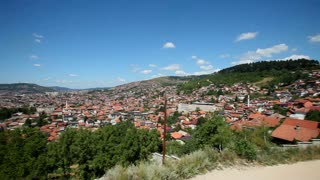 Panoramic view of the city of Sarajevo in Bosnia and Herzegovina