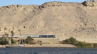 Passenger train between Luxor and Aswan