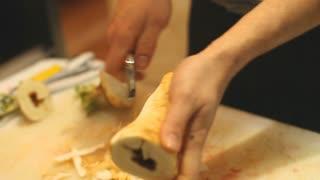 Peeling artichoke
